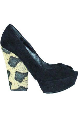 Dior Suede Block Heel Pumps Size 37