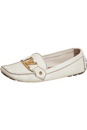 LOUIS VUITTON Off Leather Monte Carlo Loafers Size 37