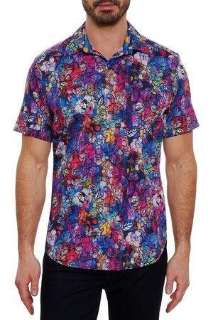 Robert Graham Men Short sleeves - Men's Valerio Multicolor Floral Short-Sleeve Shirt - Size Medium