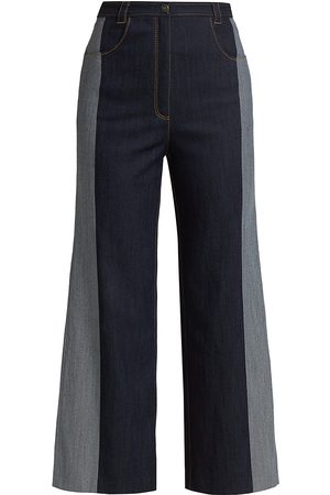 Cinq A Sept Women Wide Leg Pants - Women's Rae Wide-Leg Denim Pants - Indigo - Size 14