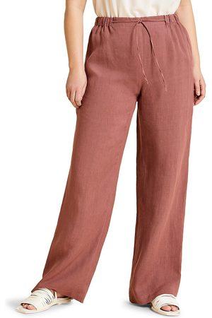 Persona by Marina Rinaldi Women's Recanati Straight-Leg Trousers - Bordeaux - Size 16W