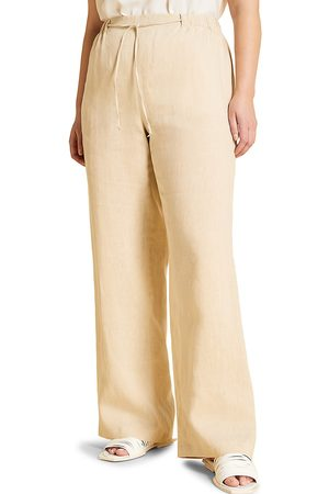 Persona by Marina Rinaldi Women's Recanati Linen Straight-Leg Trousers - - Size 22W