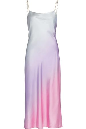 CAMI Women's Shallon Stretch Silk Slip Dress - Candy Ombre - Size Large