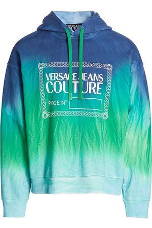 VERSACE Men's Tie-Dye Logo Hoodie - - Size Large