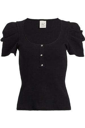 Cinq A Sept Women's Jordan Puff-Sleeve Top - - Size Medium