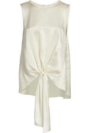 Cinq A Sept Women's Hayden Silk Top - Ivory - Size XS