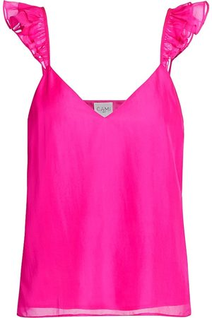 CAMI Women's Cara Neon Silk Chiffon Camisole - Neon - Size Large