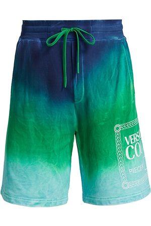 VERSACE Men's Tie-Dye Logo Bermuda Shorts - - Size XL