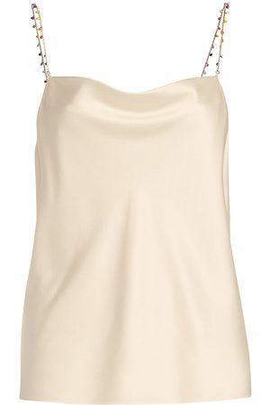 CAMI Women's Busy Bead Stretch Silk Camisole - Ceramic - Size XS