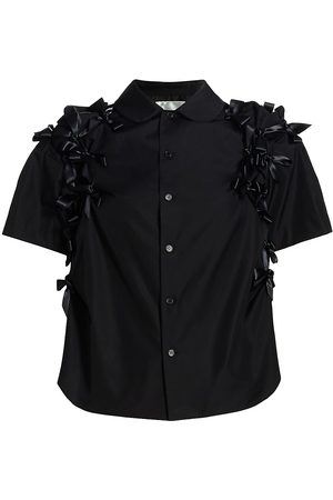 NOIR KEI NINOMIYA Women's Bow Short-Sleeve Shirt - - Size XS