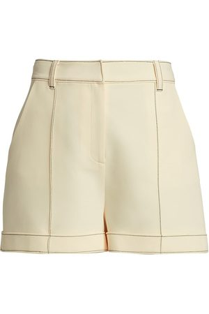 Cinq A Sept Women's Galena Tailored Shorts - Gardenia - Size 6
