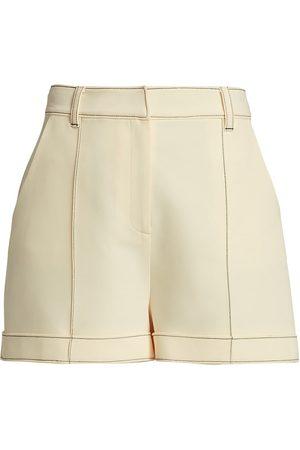 Cinq A Sept Women's Galena Tailored Shorts - Gardenia - Size 6