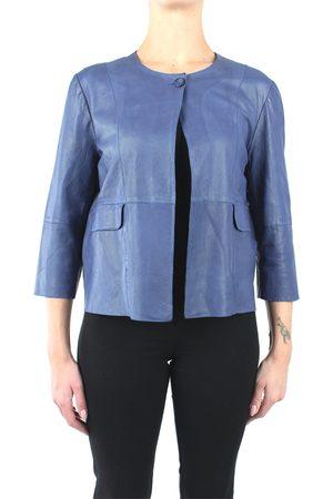 TERZO PIANO Leather jackets Women Denim pelle
