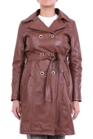 EMANUELE CURCI Trench Women Leather