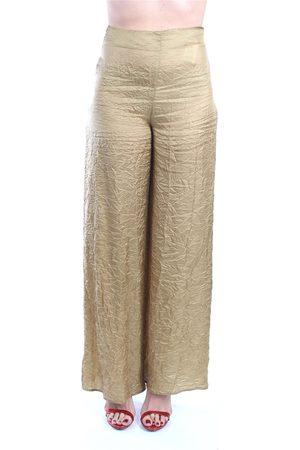 ERIKA CAVALLINI Trouser Women Bronze cupro