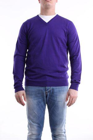 GREY DANIELE ALESSANDRINI V-neck Men Violet