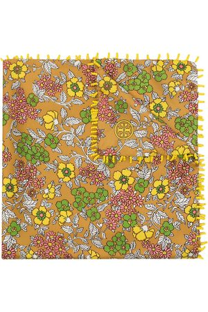 Tory Burch Floral-print silk neckerchief