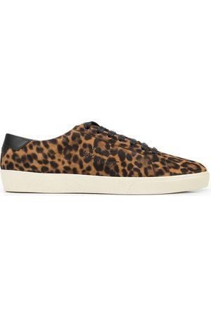Saint Laurent SL06 Court Classic leopard sneakers