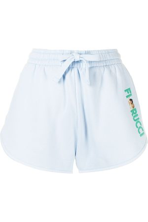 Fiorucci Women Sports Shorts - Angels embroidered-logo sweat-shorts