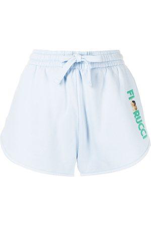 Fiorucci Women Sports Shorts - Angels embroidered-logo sweat-shorts