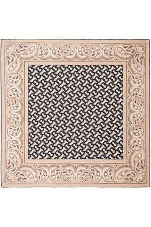 Burberry Scarves - Monogram paisley-print silk scarf