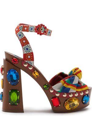 Dolce & Gabbana Crystal-embellished platform sandals
