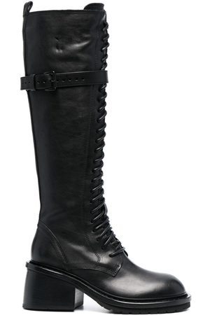 ANN DEMEULEMEESTER Knee-length lace-up boots