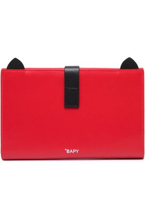 BAPY BY *A BATHING APE® Foldover leather purse