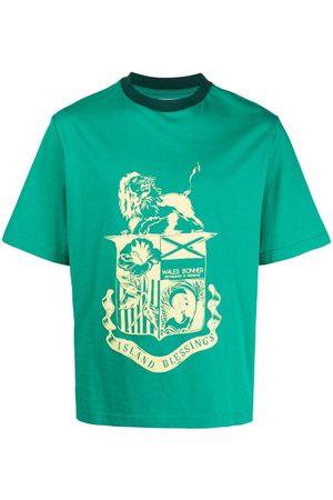 WALES BONNER Graphic-print organic cotton T-shirt