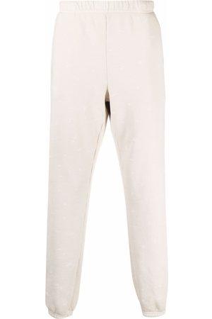 Les Tien Elasticated cotton track pants - Neutrals
