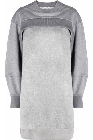 Alexander McQueen Layered sweatshirt dress - Grey