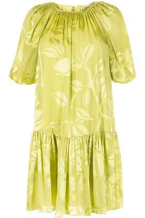 STINE GOYA Lemon print pleated mini dress