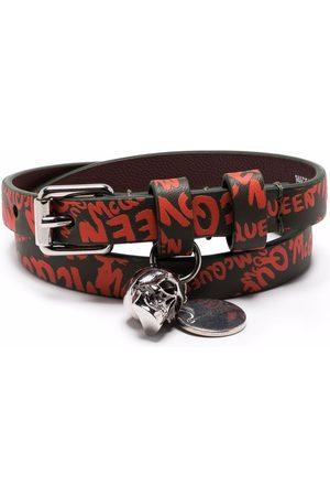 Alexander McQueen Logo-print leather bracelet