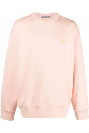 Acne Studios Sweatshirts - Face-patch crew neck sweatshirt