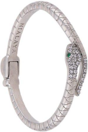 Nialaya Crystal-embellished snake bangle