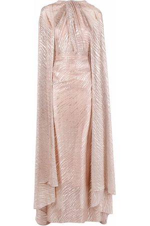 TALBOT RUNHOF Long-sleeve draped maxi dress