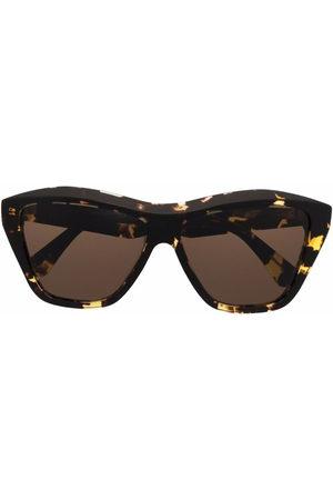Bottega Veneta Sunglasses - Tortoiseshell-effect geometric-frame sunglasses