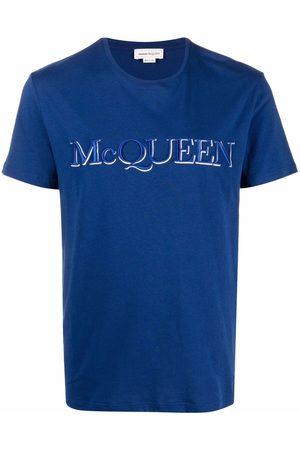 Alexander McQueen Logo embroidered short-sleeve T-shirt