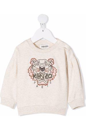 Kenzo Embroidered tiger logo sweatshirt - Neutrals