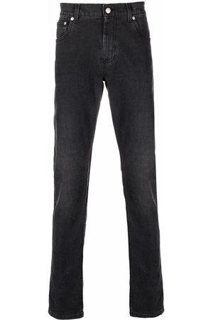 Alexander McQueen Logo-embroidered straight-leg jeans - Grey
