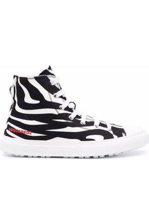 Dsquared2 Zebra-print high-top sneakers
