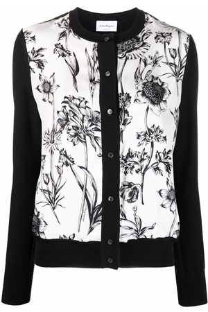 Salvatore Ferragamo Floral-print button-fastening cardigan