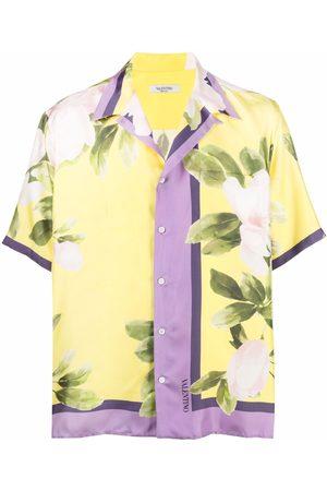 VALENTINO Men Short sleeves - Flora-print short-sleeve shirt