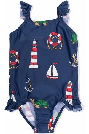Mini Rodini Marine-print swimsuit