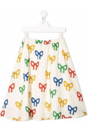 Mini Rodini Bow-print skirt - Neutrals