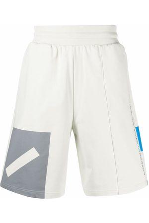 A-cold-wall* Men Sports Shorts - Elasticated-waist organic-cotton track shorts - Grey