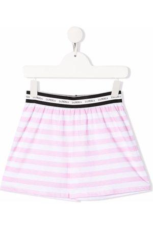 La Perla Logo striped shorts