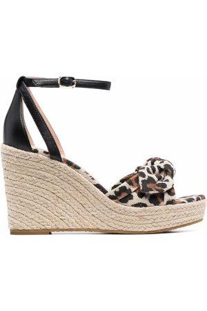 Kate Spade Leopard-print wedge-heel sandals - Neutrals