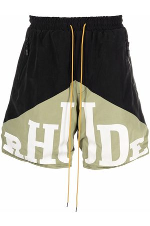 Rhude Men Sports Shorts - Logo-print track shorts