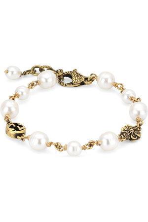 Gucci Interlocking G flower pearl bracelet